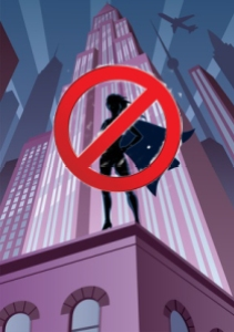 Superheroine in City